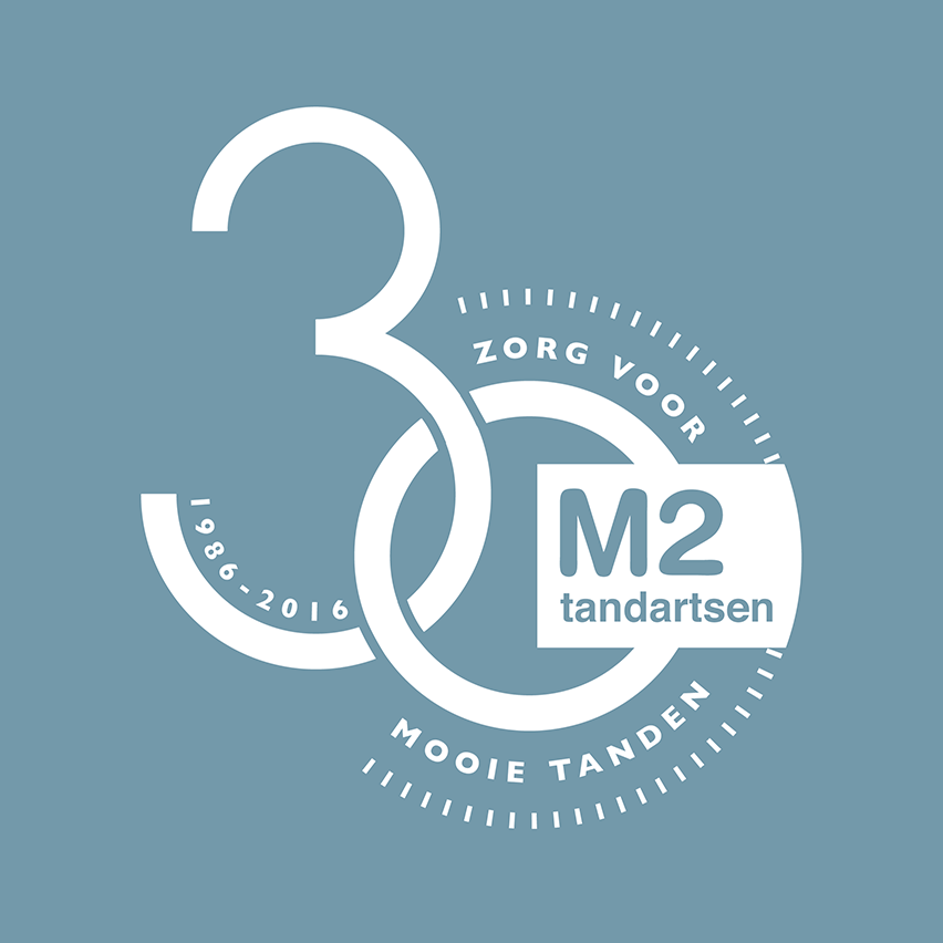 M2 tandartsen jubileum logo