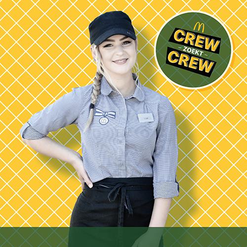 McDonalds Crew zoekt Crew in actie
