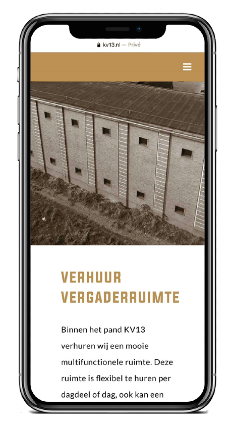 KV13 responsive design Verhuur vergaderruimte