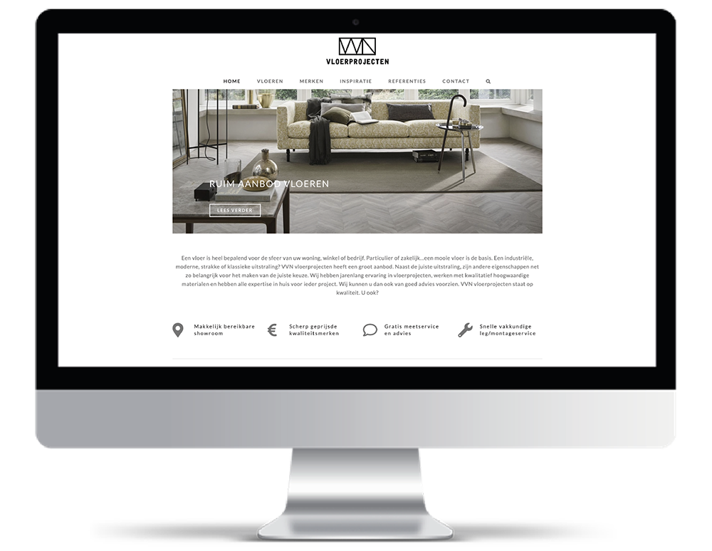 VVN Vloerprojecten Webdesign