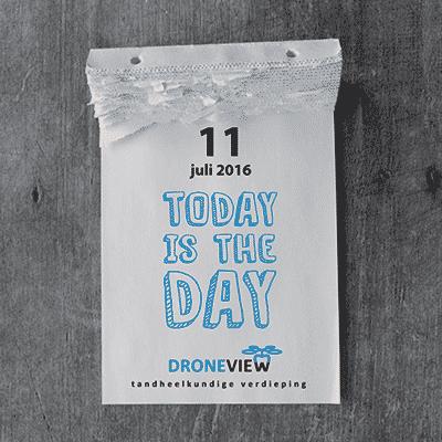 Droneview Social Media advertentie scheurkalender