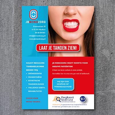 JB MONDZORG tandarts advertentie
